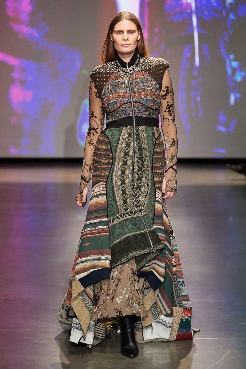 Marine Serre Fall/Winter 2020 Collection Runway Show Knit Dress
