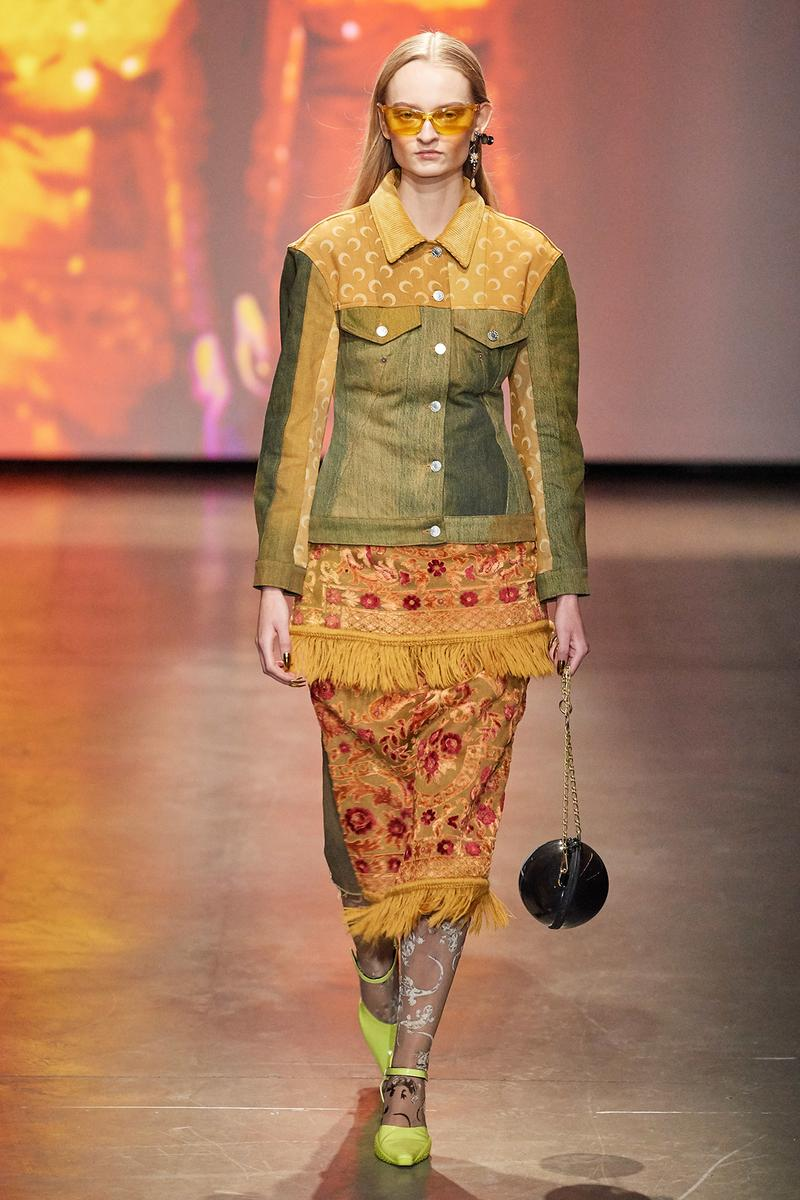 Marine Serre Fall/Winter 2020 Collection Runway Show Tapestry Jacket Skirt