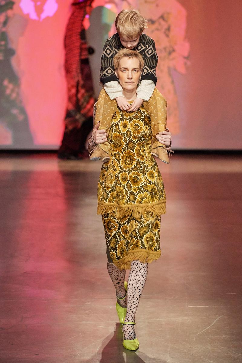 Marine Serre Fall/Winter 2020 Collection Runway Show Tapestry Top Skirt