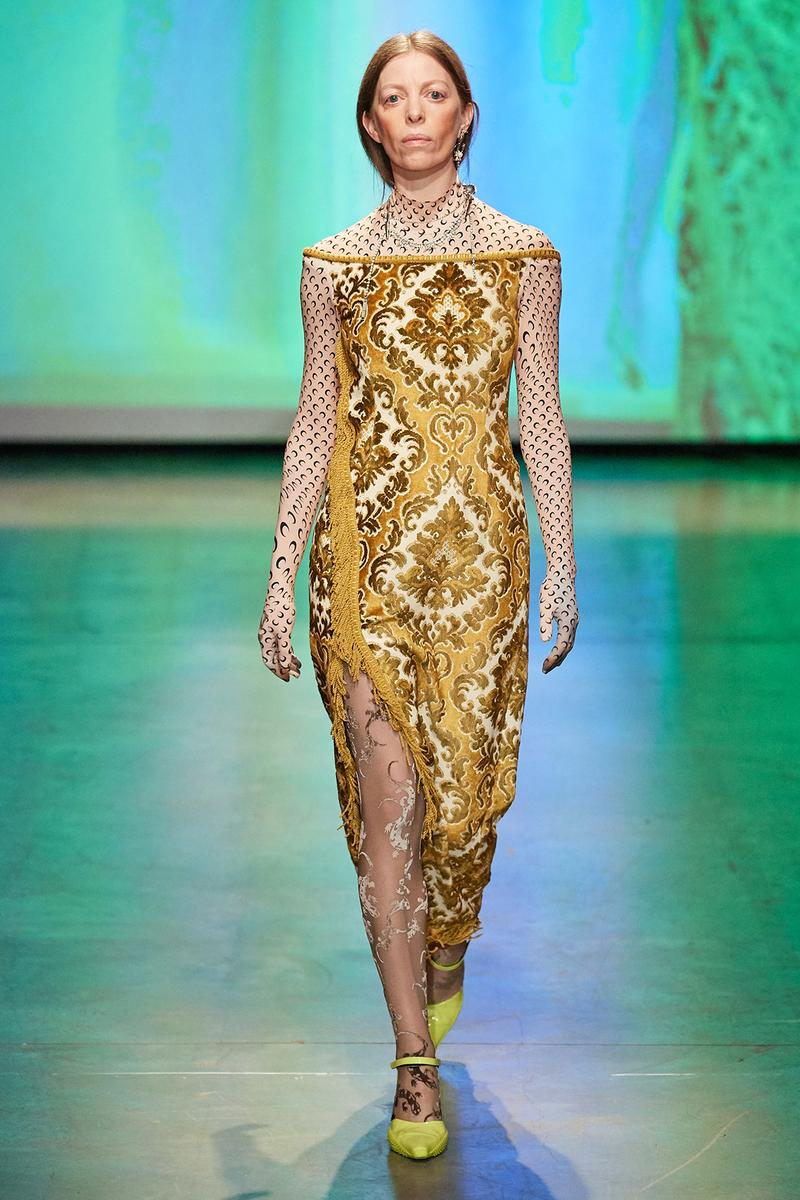 Marine Serre Fall/Winter 2020 Collection Runway Show Tapestry Dress
