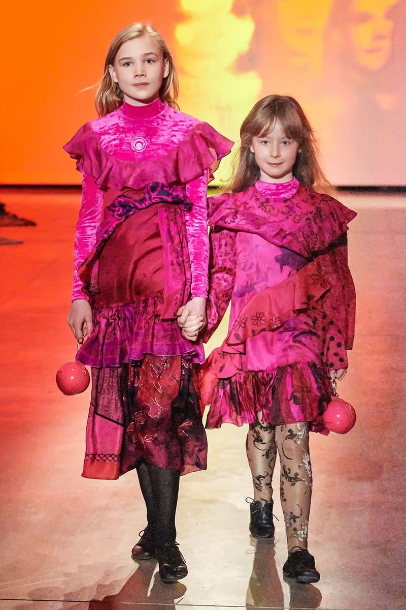 Marine Serre Fall/Winter 2020 Collection Runway Show Children's Dress Pink