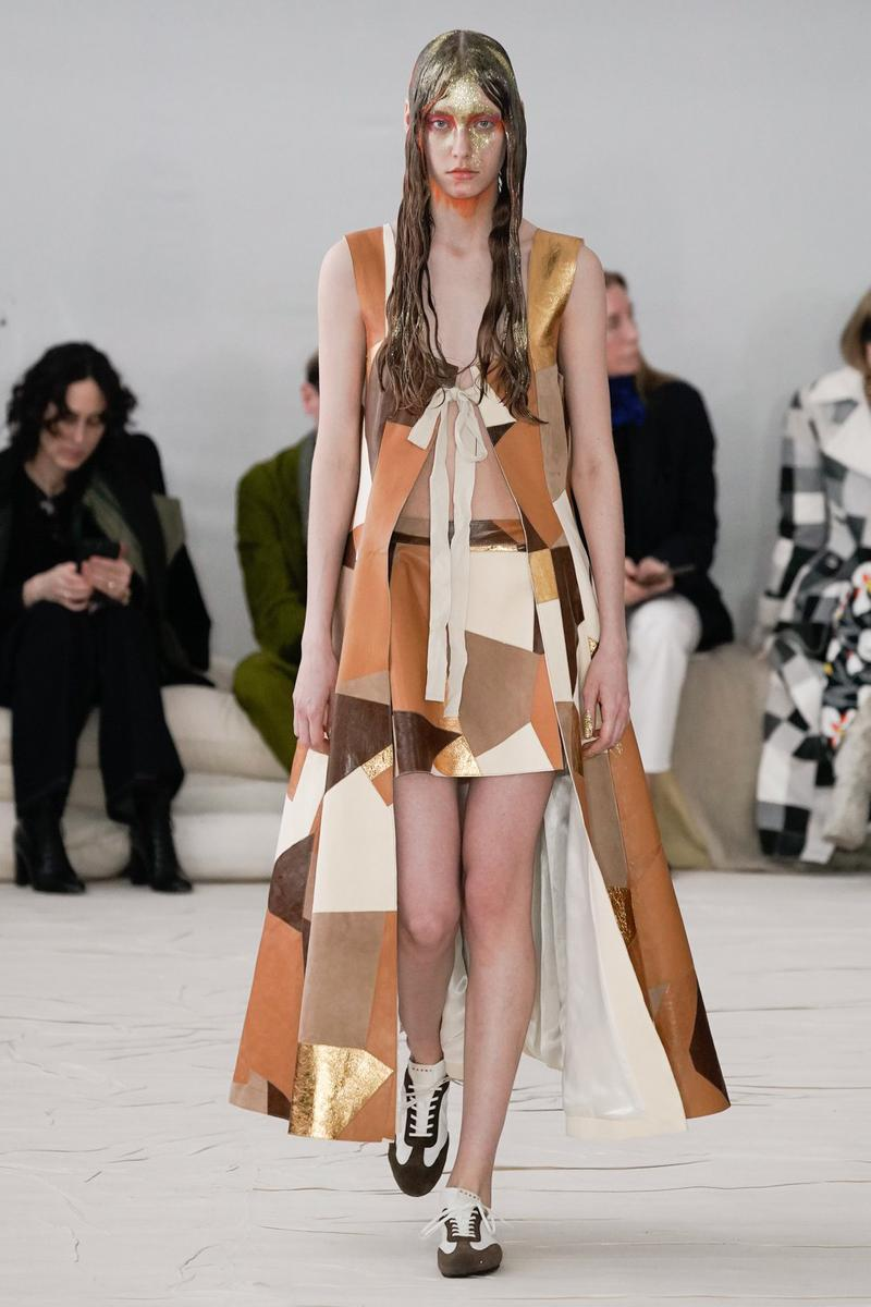 Marni Fall/Winter 2020 Collection Runway Show Patchwork Vest