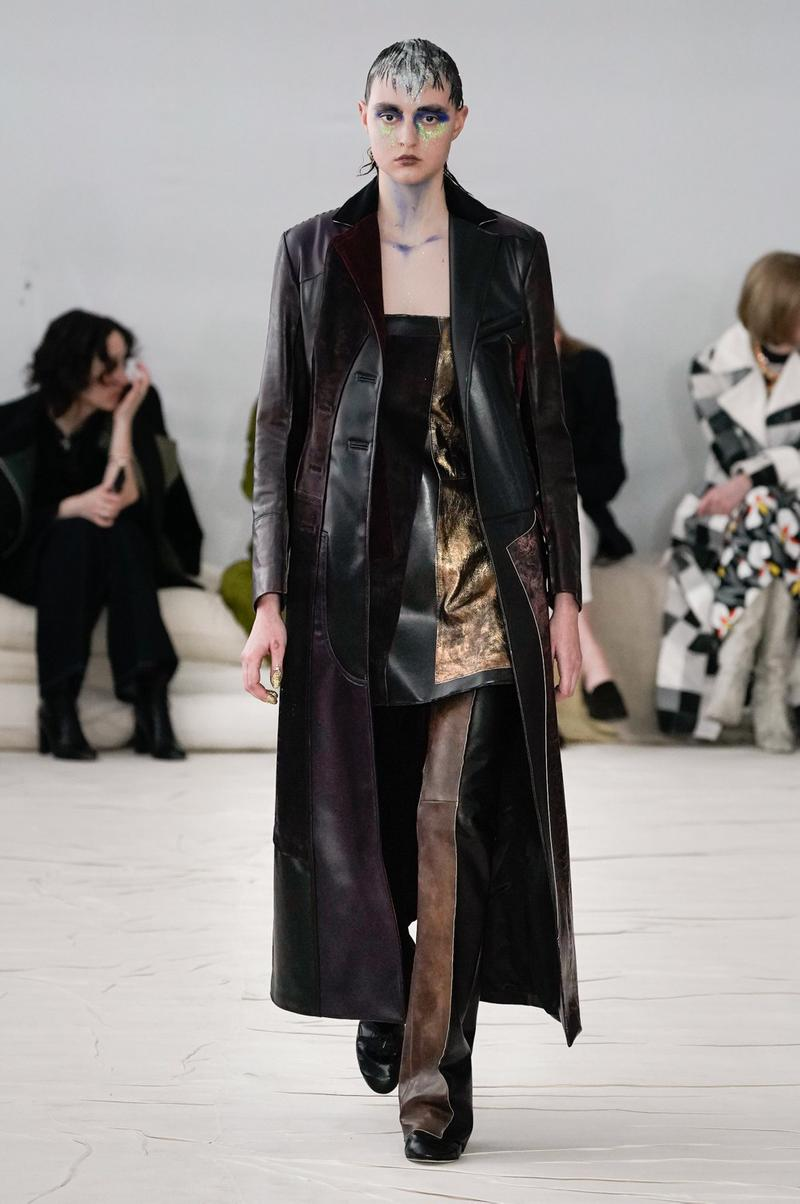 Marni Fall/Winter 2020 Collection Runway Show Coat Black