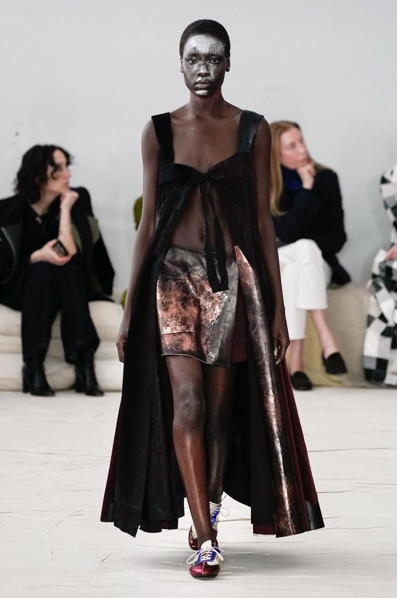 Marni Fall/Winter 2020 Collection Runway Show Metallic Skirt