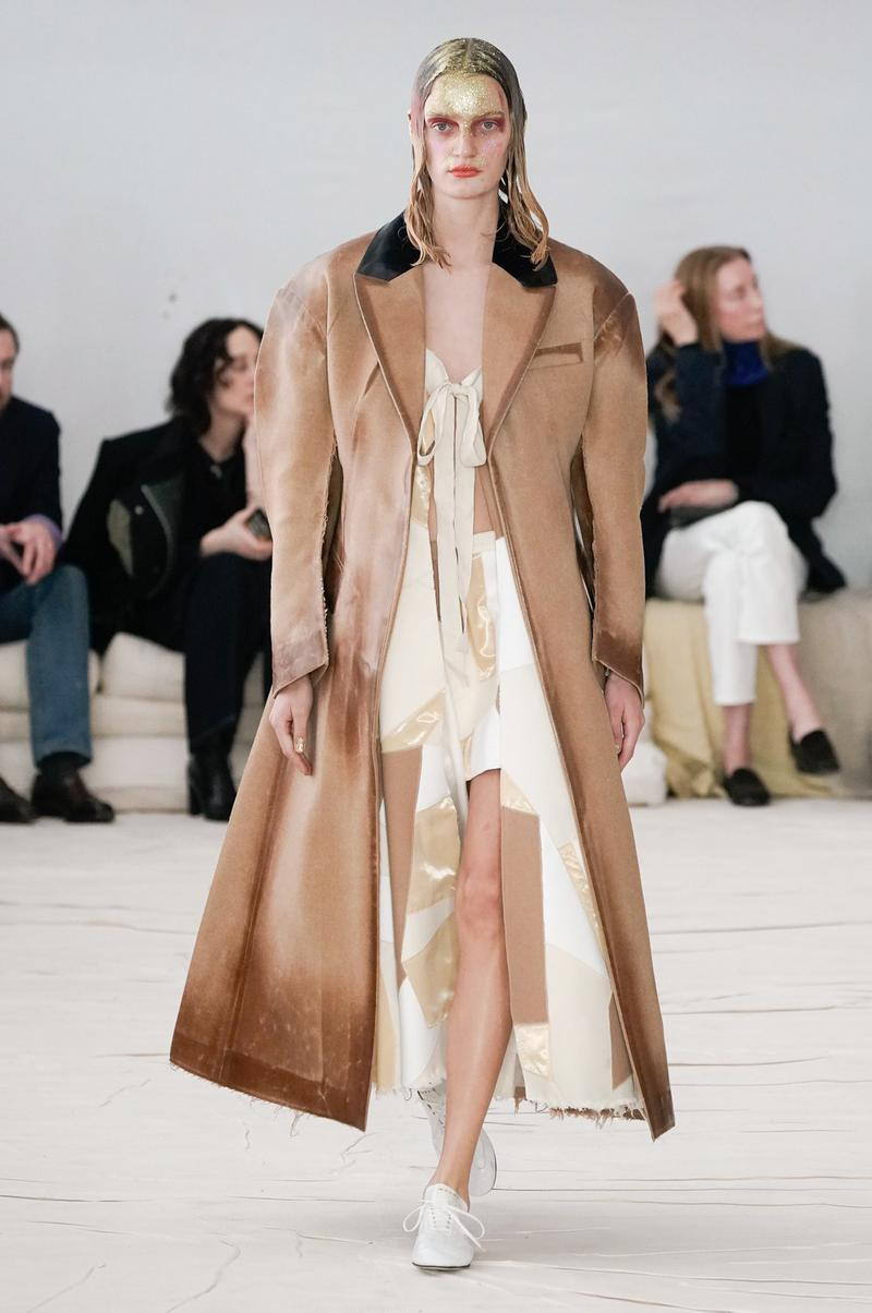 Marni Fall/Winter 2020 Collection Runway Show Suede Coat