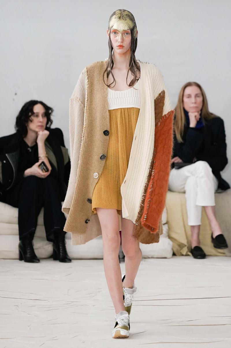 Marni Fall/Winter 2020 Collection Runway Show Cardigan Knit Dress