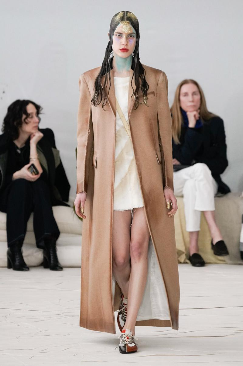 Marni Fall/Winter 2020 Collection Runway Show Coat Beige
