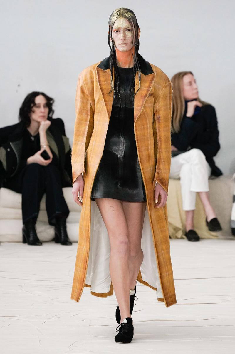 Marni Fall/Winter 2020 Collection Runway Show Coat Orange