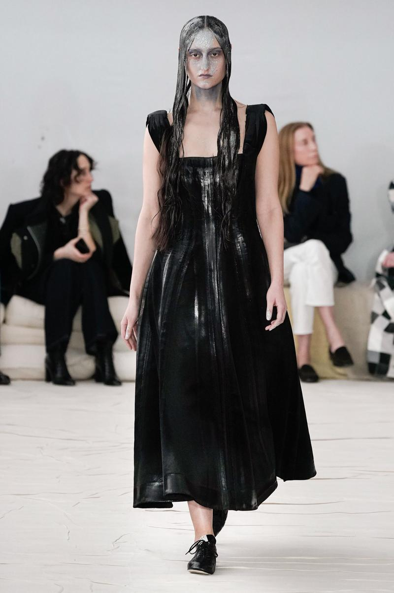 Marni Fall/Winter 2020 Collection Runway Show Dress Black