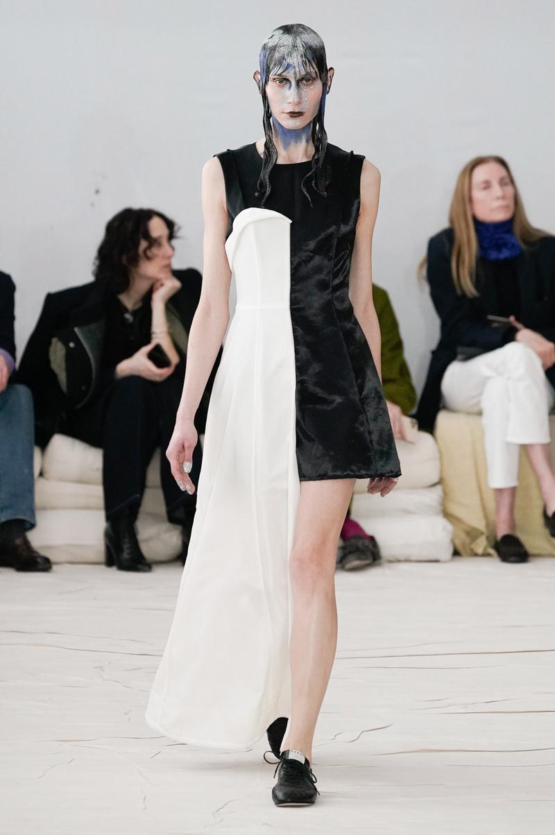 Marni Fall/Winter 2020 Collection Runway Show Mini Dress Black