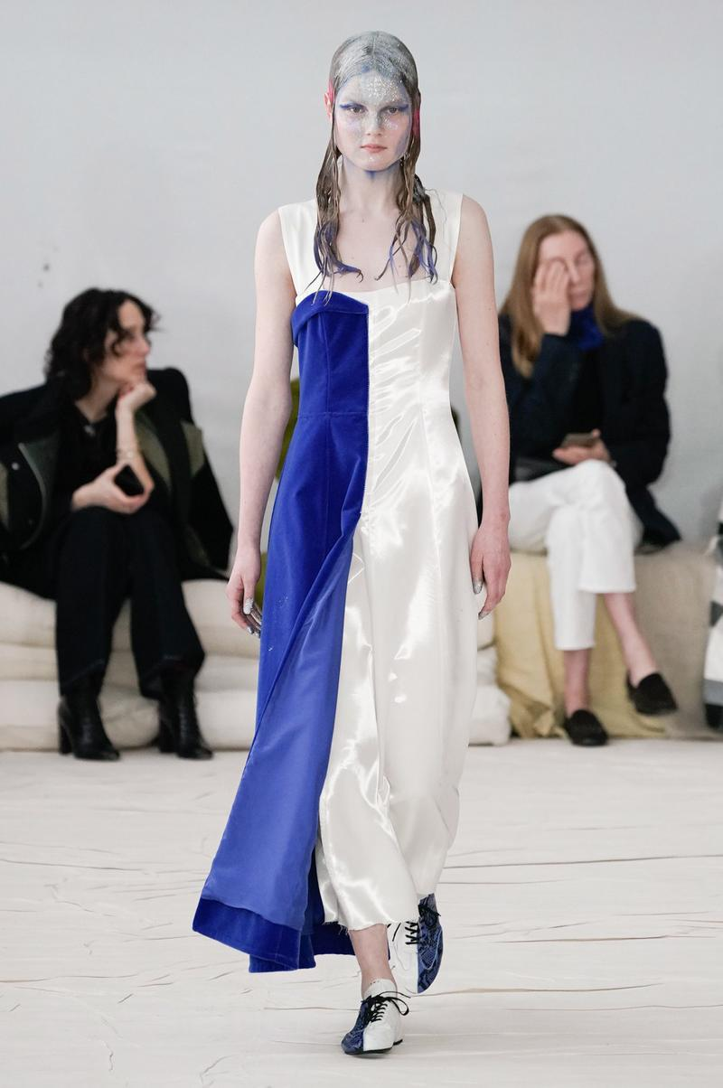 Marni Fall/Winter 2020 Collection Runway Show Dress Blue White