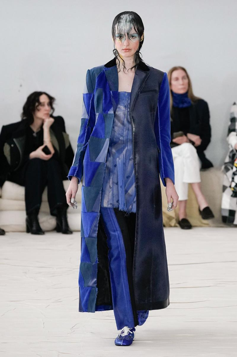 Marni Fall/Winter 2020 Collection Runway Show Coat Blue