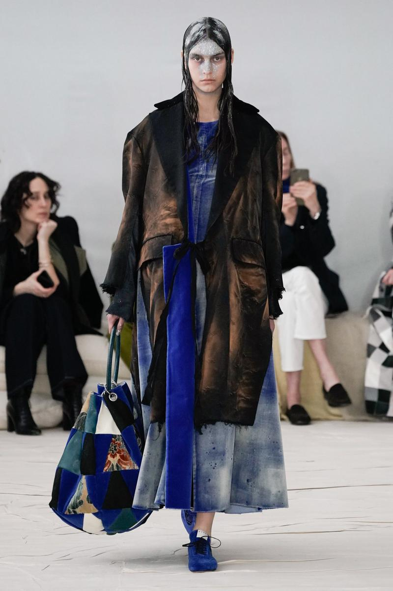 Marni Fall/Winter 2020 Collection Runway Show Coat Tie DYe