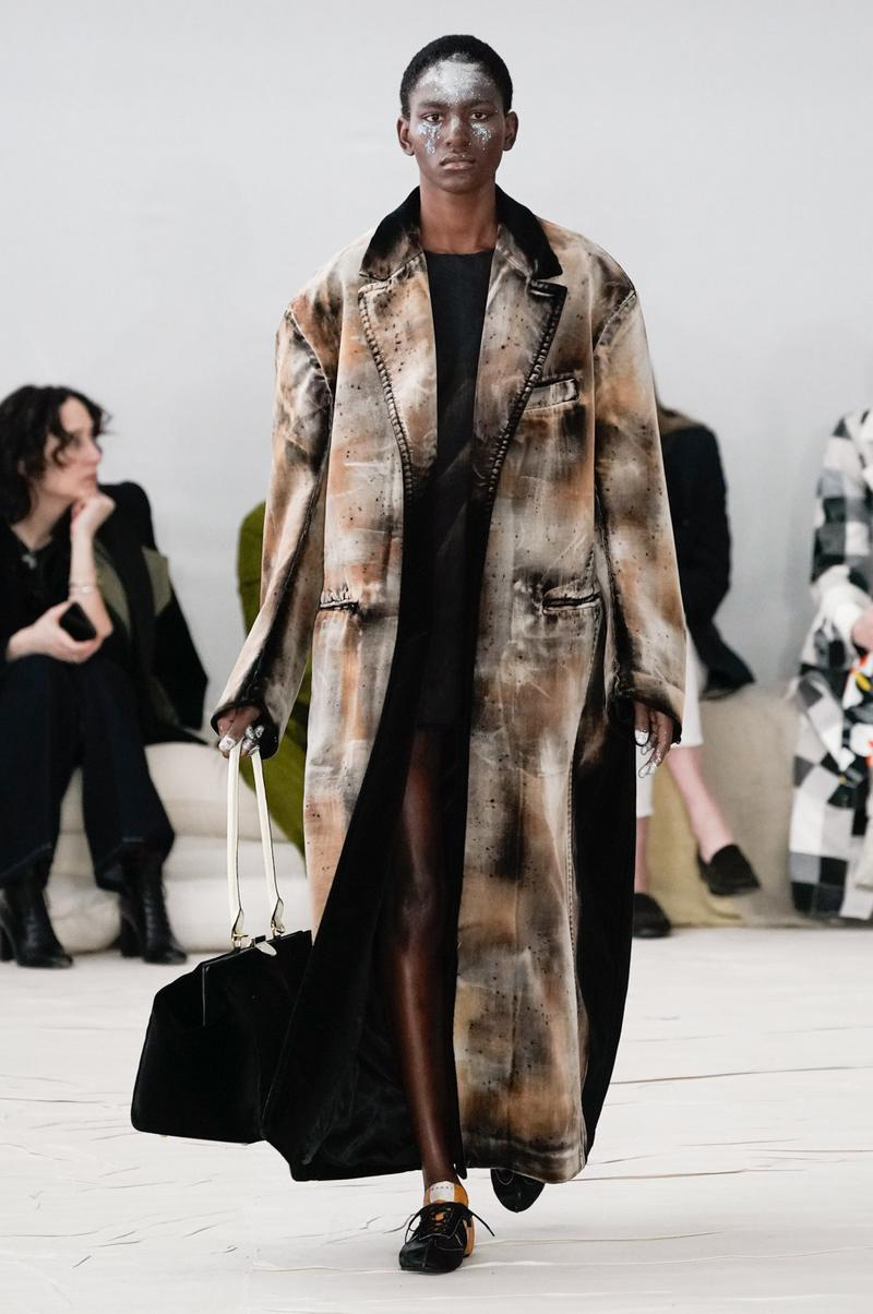 Marni Fall/Winter 2020 Collection Runway Show Coat