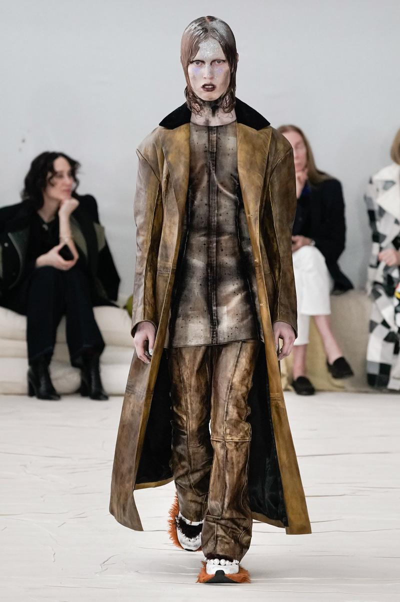 Marni Fall/Winter 2020 Collection Runway Show Coat Brown