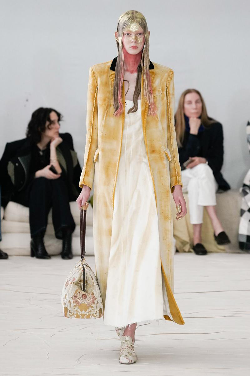 Marni Fall/Winter 2020 Collection Runway Show Coat Yellow