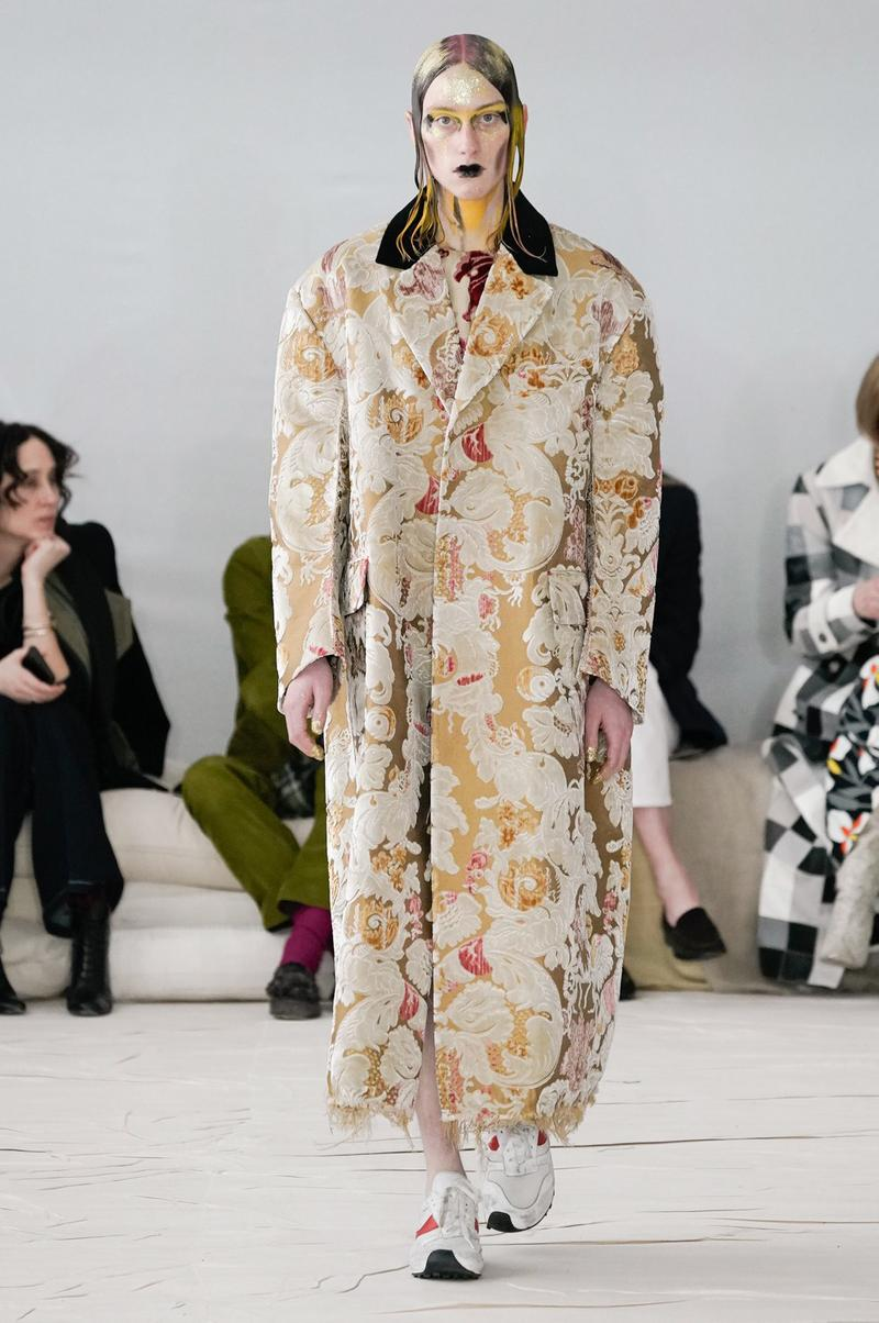 Marni Fall/Winter 2020 Collection Runway Show Coat Tapestry