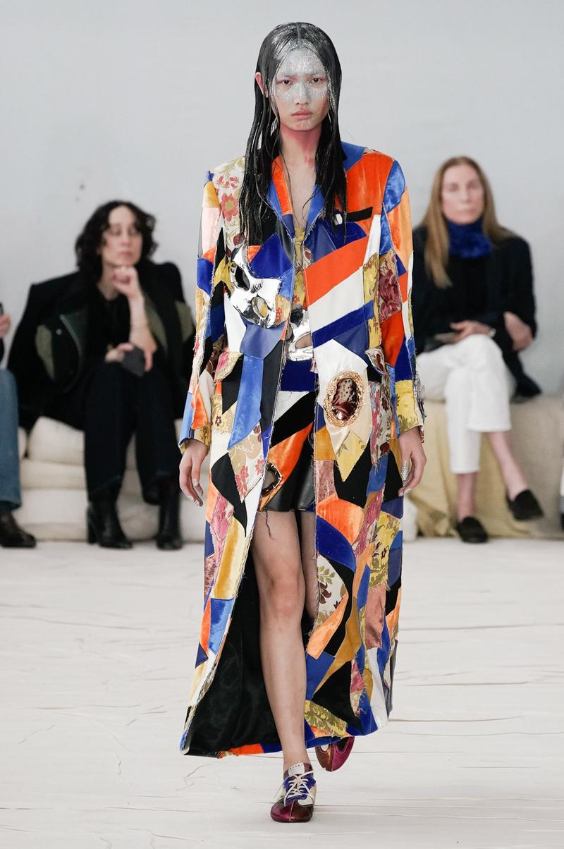 Marni Fall/Winter 2020 Collection Runway Show Dress Patchwork