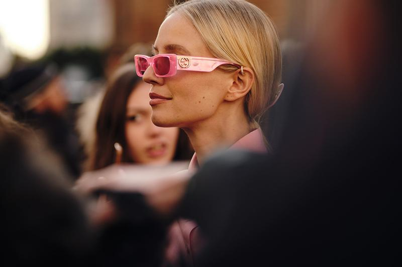 Pink Gucci Sunglasses Street Style Trends Milan Fashion Week Fall Winter 2020 FW20 influencer