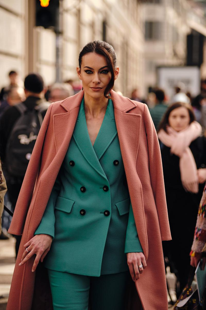 Street Style Trends Milan Fashion Week Fall Winter 2020 FW20 Influencer Blazer Suit Coat