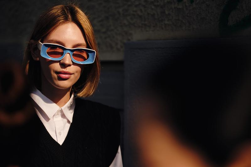 Loewe Sunglasses Blue Street Style Trends Milan Fashion Week Fall Winter 2020 FW20 Influencer