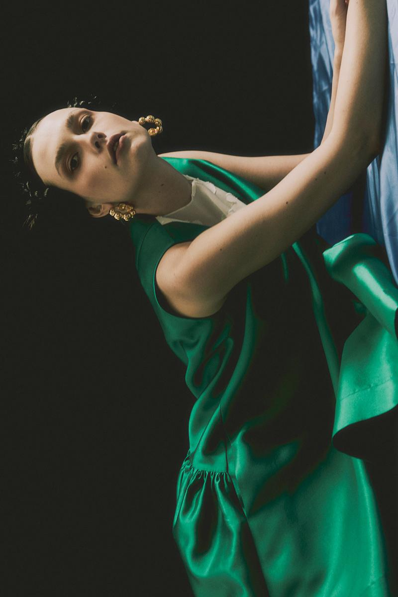 minju kim netflix next in fashion winner korean designer green dress