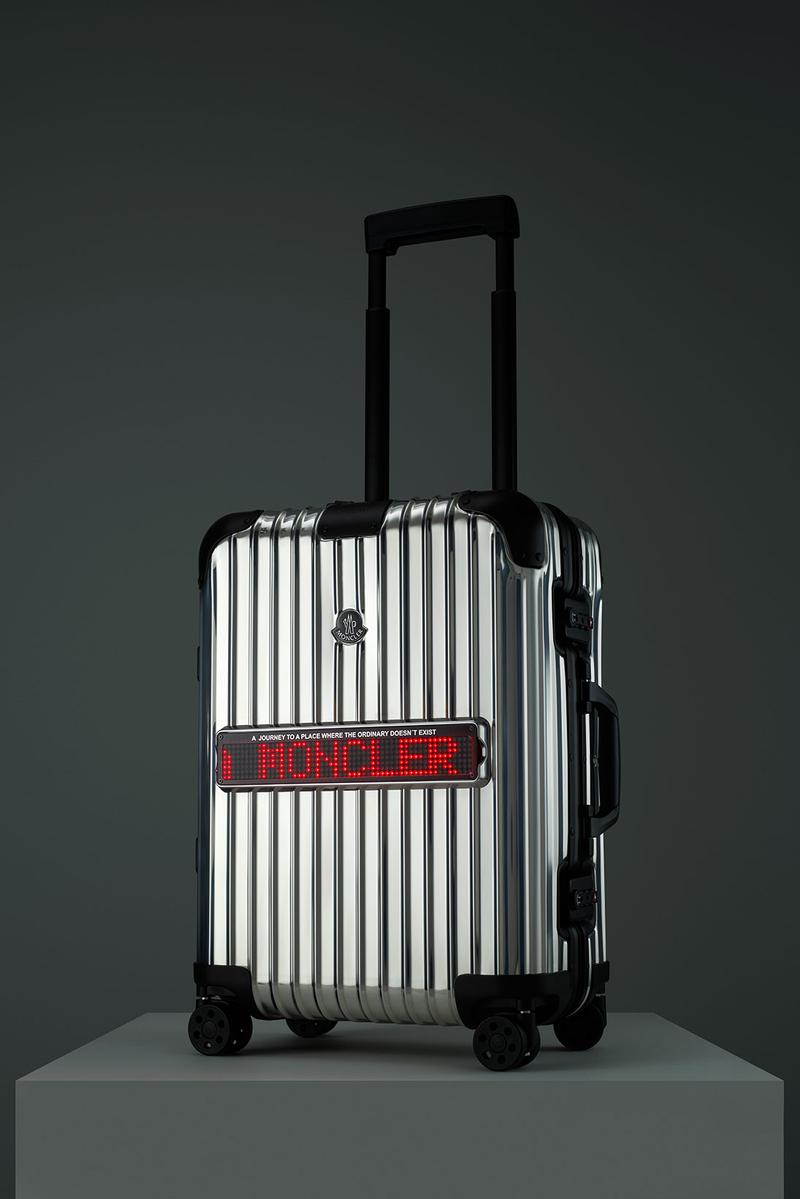 rimowa moncler genius reflection collaboration suitcase luggage first look