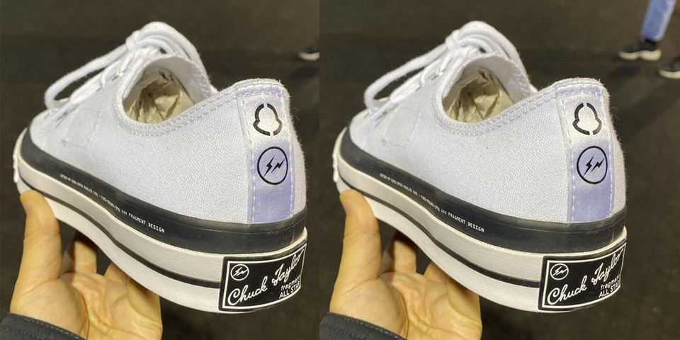 Hiroshi Fujiwara Reveals the Moncler x fragment design x Converse Chuck Taylor All-Star in White