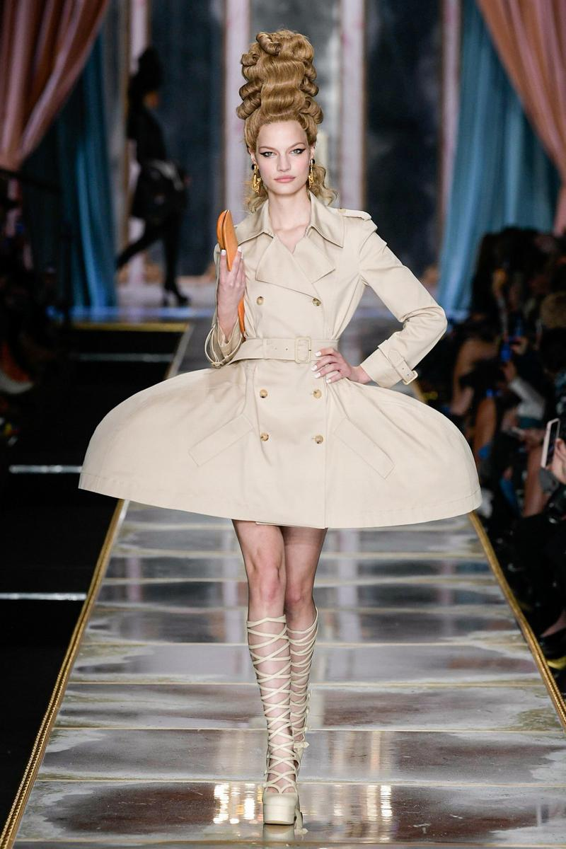 Moschino Fall/Winter 2020 Collection Runway Show Trench Coat Dress