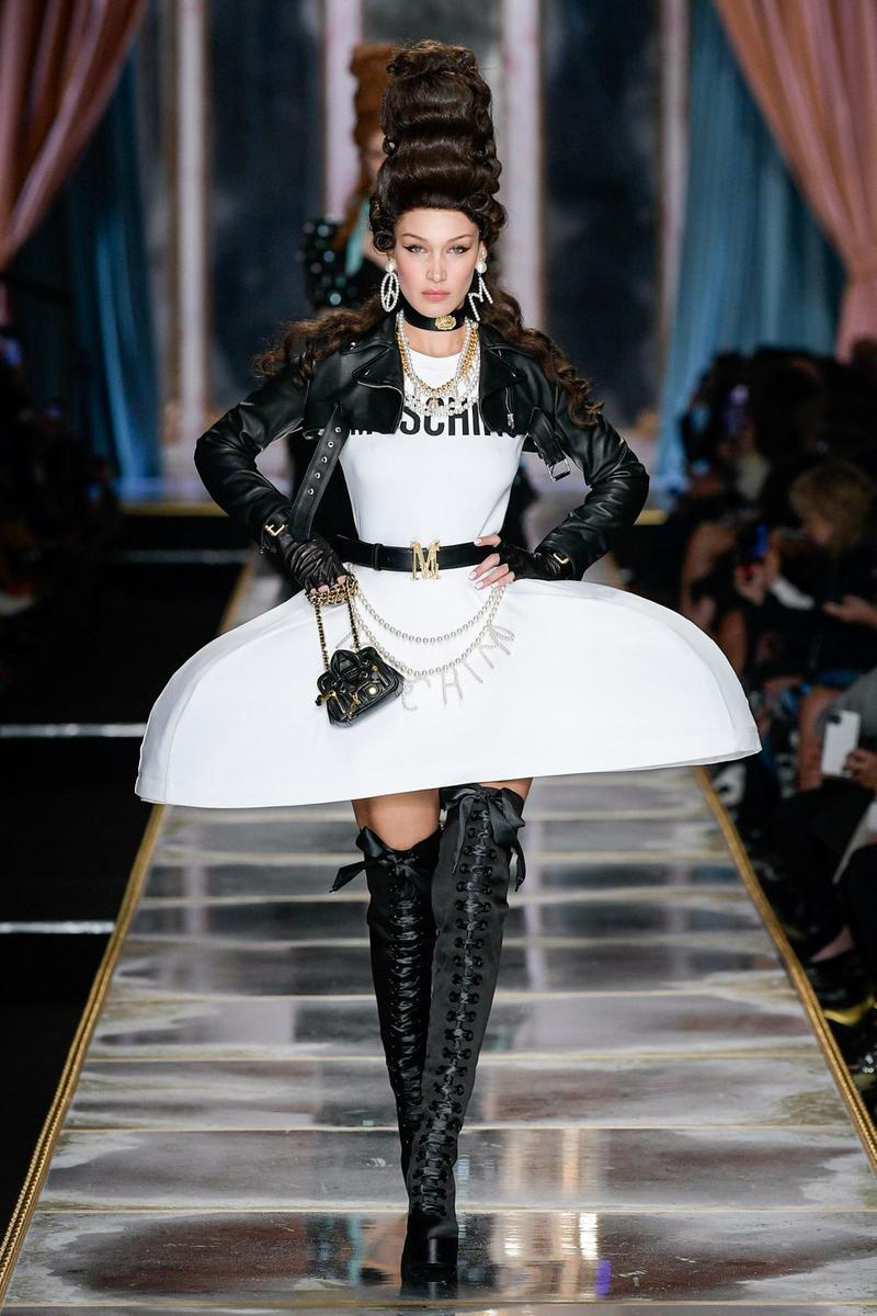 Moschino Fall/Winter 2020 Collection Runway Show Corset Dress White