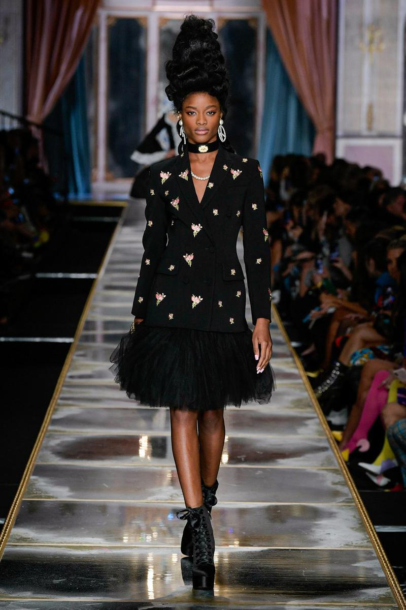 Moschino Fall/Winter 2020 Collection Runway Show Tulle Coat Black