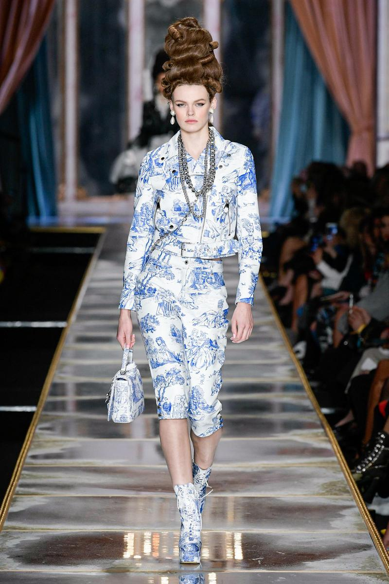 Moschino Fall/Winter 2020 Collection Runway Show Jacket Pants Toile