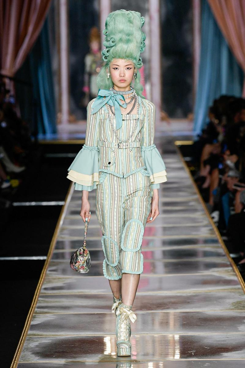 Moschino Fall/Winter 2020 Collection Runway Show Suit Green
