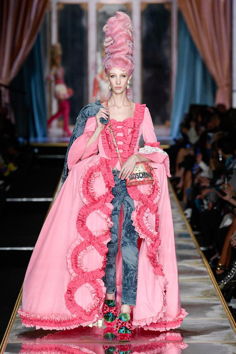 Moschino Fall/Winter 2020 Collection Runway Show Corset Gown Pink