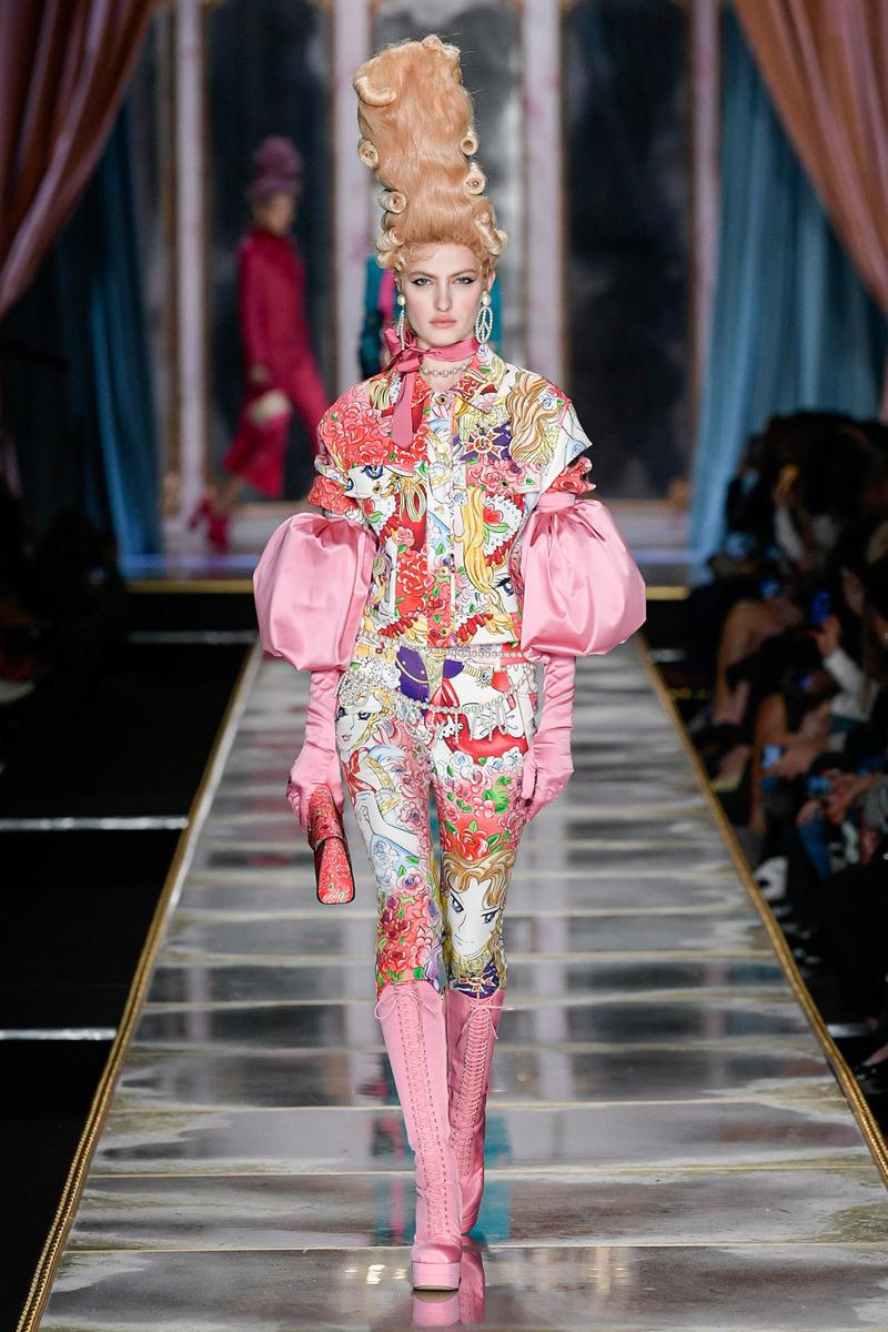 Moschino Fall/Winter 2020 Collection Runway Show Jacket Pants Tapestry