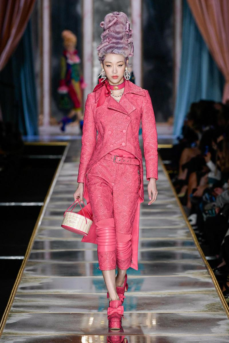 Moschino Fall/Winter 2020 Collection Runway Show Jacket Pants Pink