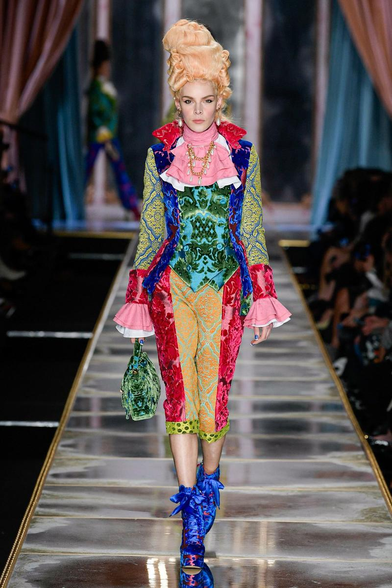Moschino Fall/Winter 2020 Collection Runway Show Corset Pants Tapestry
