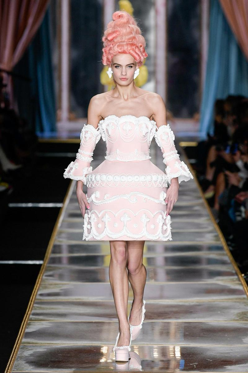 Moschino Fall/Winter 2020 Collection Runway Show Cake Dress Pink