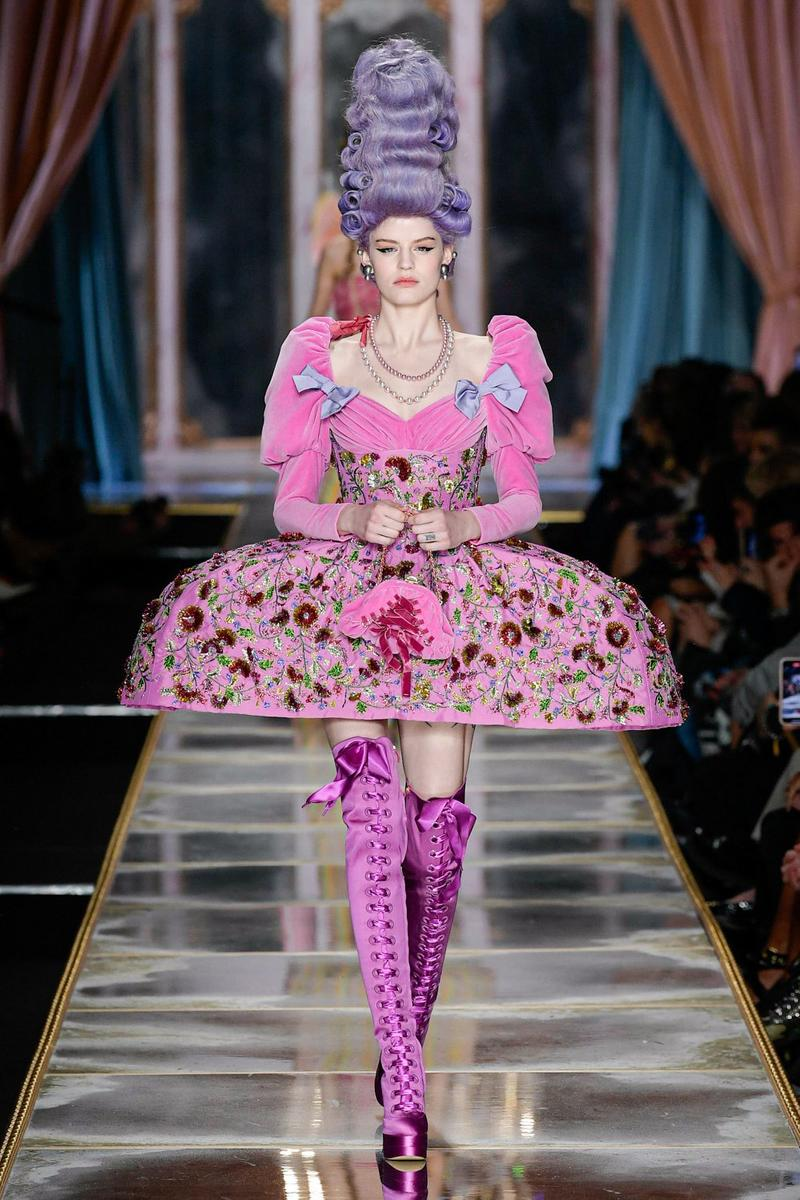 Moschino Fall/Winter 2020 Collection Runway Show Dress Pink