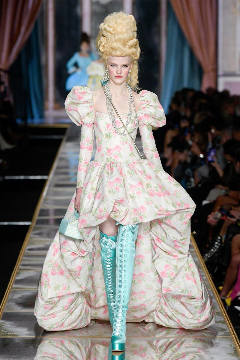 Moschino Fall/Winter 2020 Collection Runway Show Silk Gown Floral