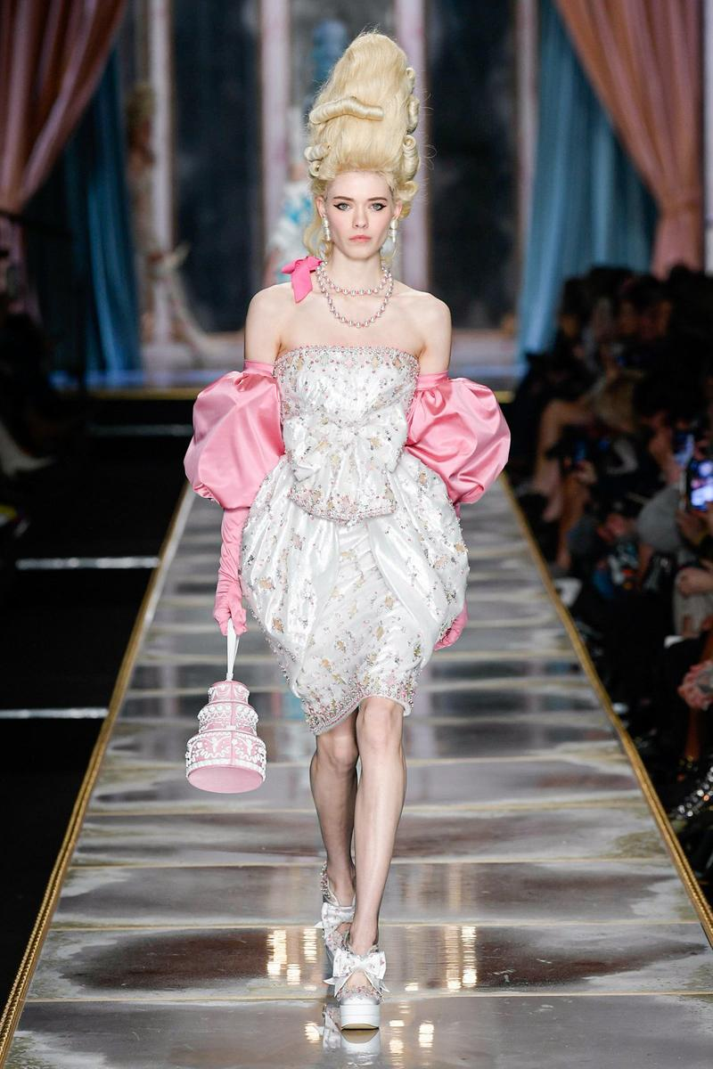Moschino Fall/Winter 2020 Collection Runway Show Mini Dress White