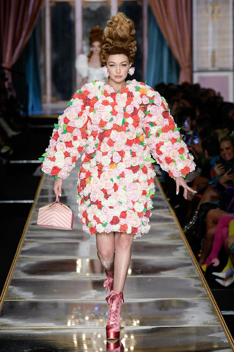 Moschino Fall/Winter 2020 Collection Runway Show Flower Coat