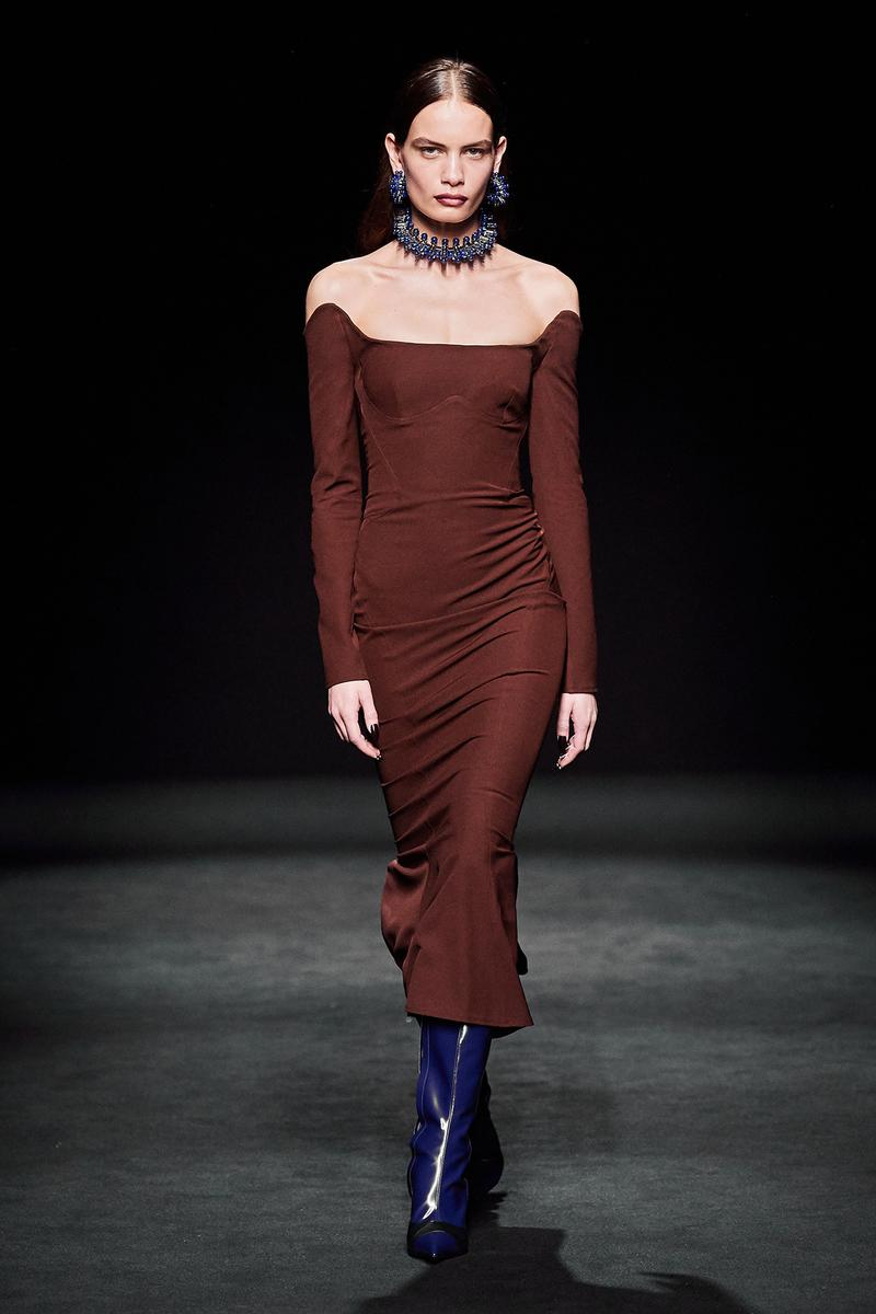 Mugler Fall/Winter Collection Runway Show Dress Brown