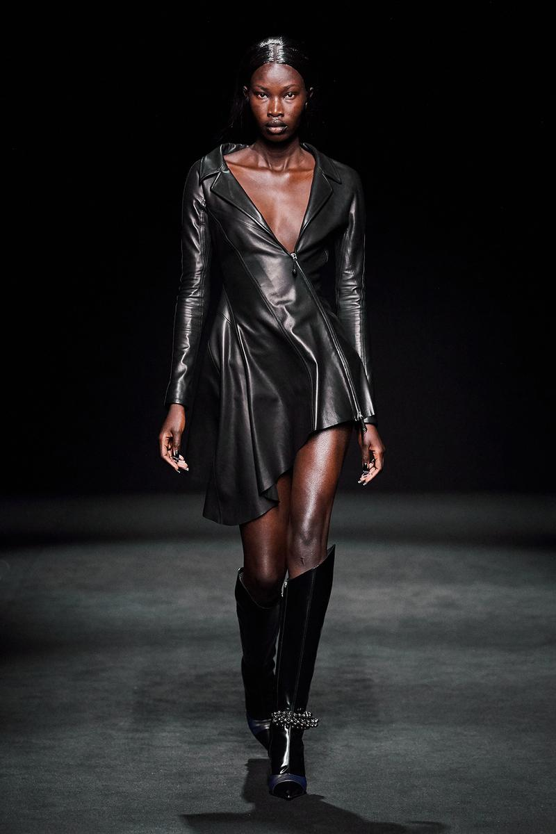 Mugler Fall/Winter Collection Runway Show Leather Dress Black