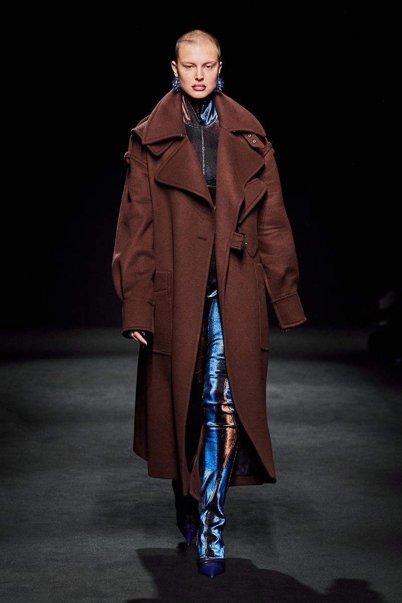 Mugler Fall/Winter Collection Runway Show Coat Brown