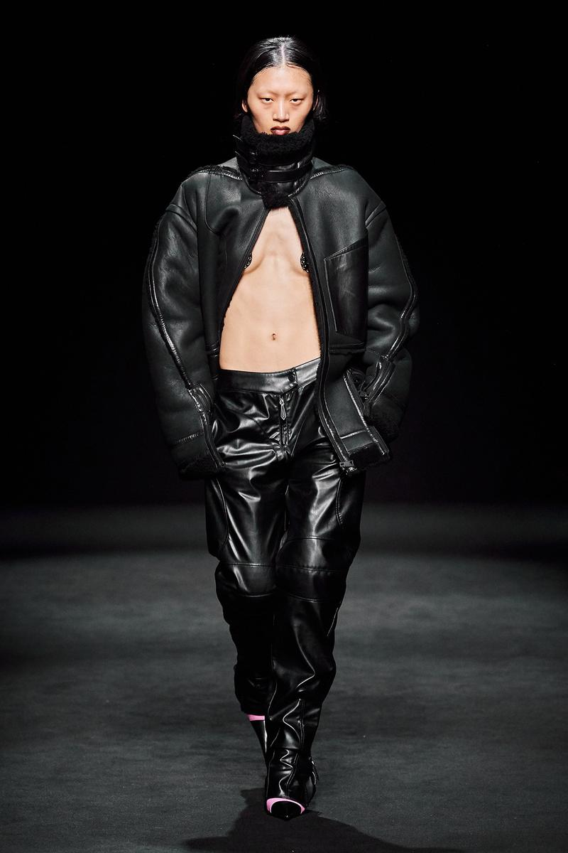 Mugler Fall/Winter Collection Runway Show Leather Pants Black