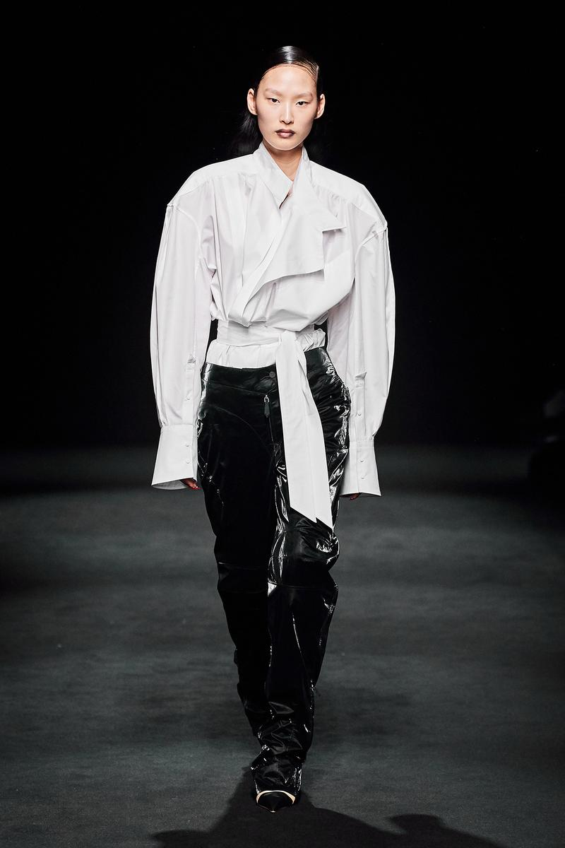 Mugler Fall/Winter Collection Runway Show Jacket White