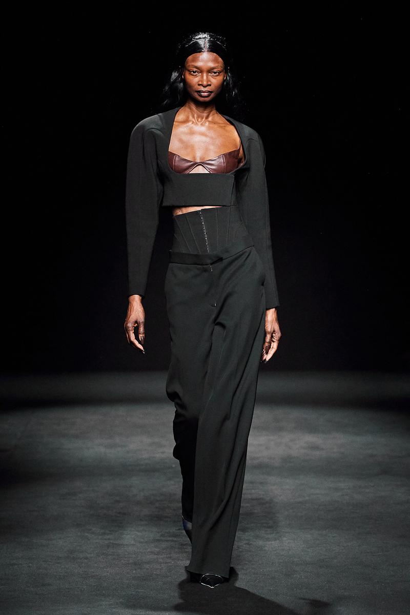 Mugler Fall/Winter Collection Runway Show Corset Pants Black