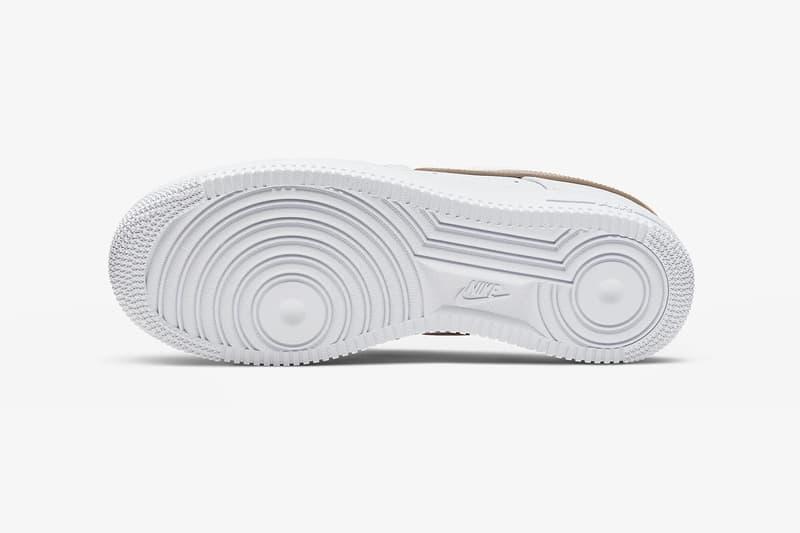 nike air force 1 07 sneakers tan white shoes footwear sneakerhead