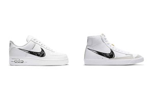 """Picture of Nike Gives Its Iconic Swoosh a """"Sketch"""" Makeover on the Air Force 1 and Blazer Mid"""